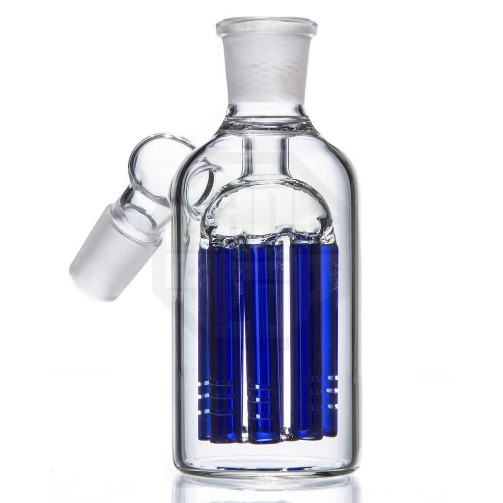 8 Arm Tree Perc Glass Ash Catcher - Blue | The710Source.com