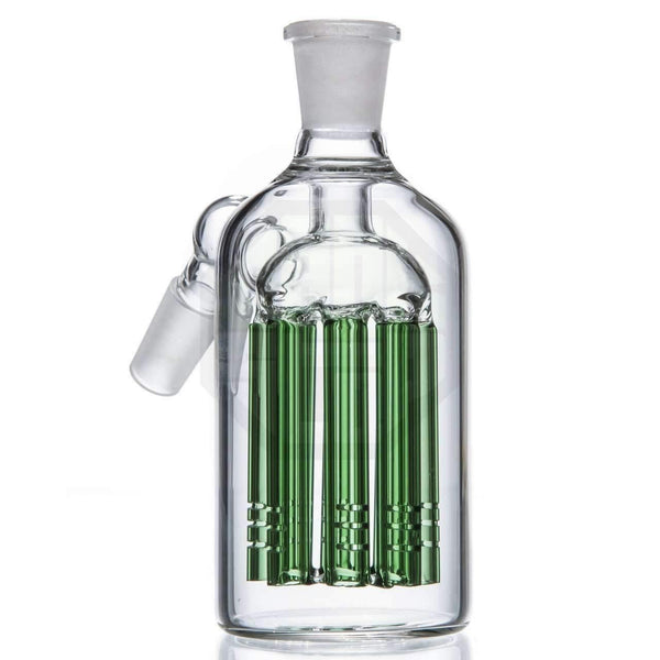 8 Arm Tree Perc Glass Ash Catcher - Green | The710Source.com