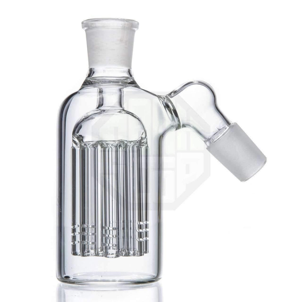 8 Arm Tree Perc Glass Ash Catcher 18mm Joint - Clear | The710Source.com