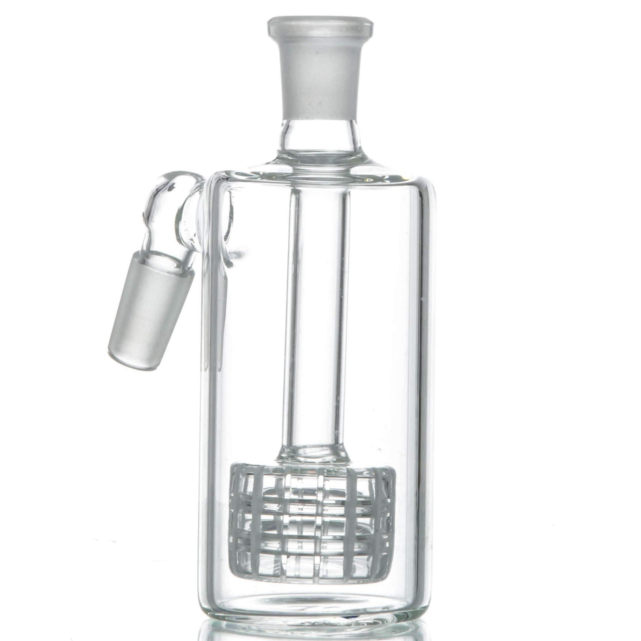Glass Ash Catcher with Matrix Perc - 45˚ Joint | The710Source.com