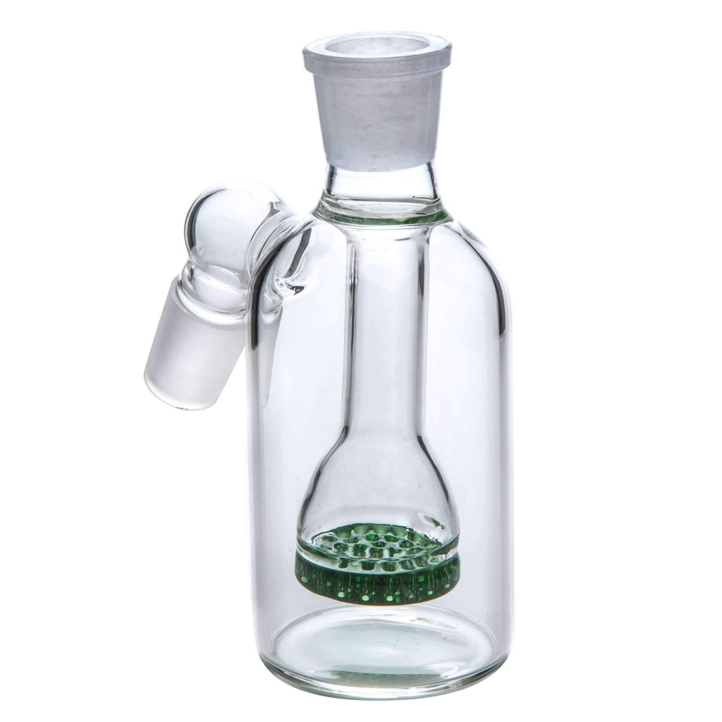 Glass Ash Catcher - 18mm 45˚ Joint - Green | The710Source.com