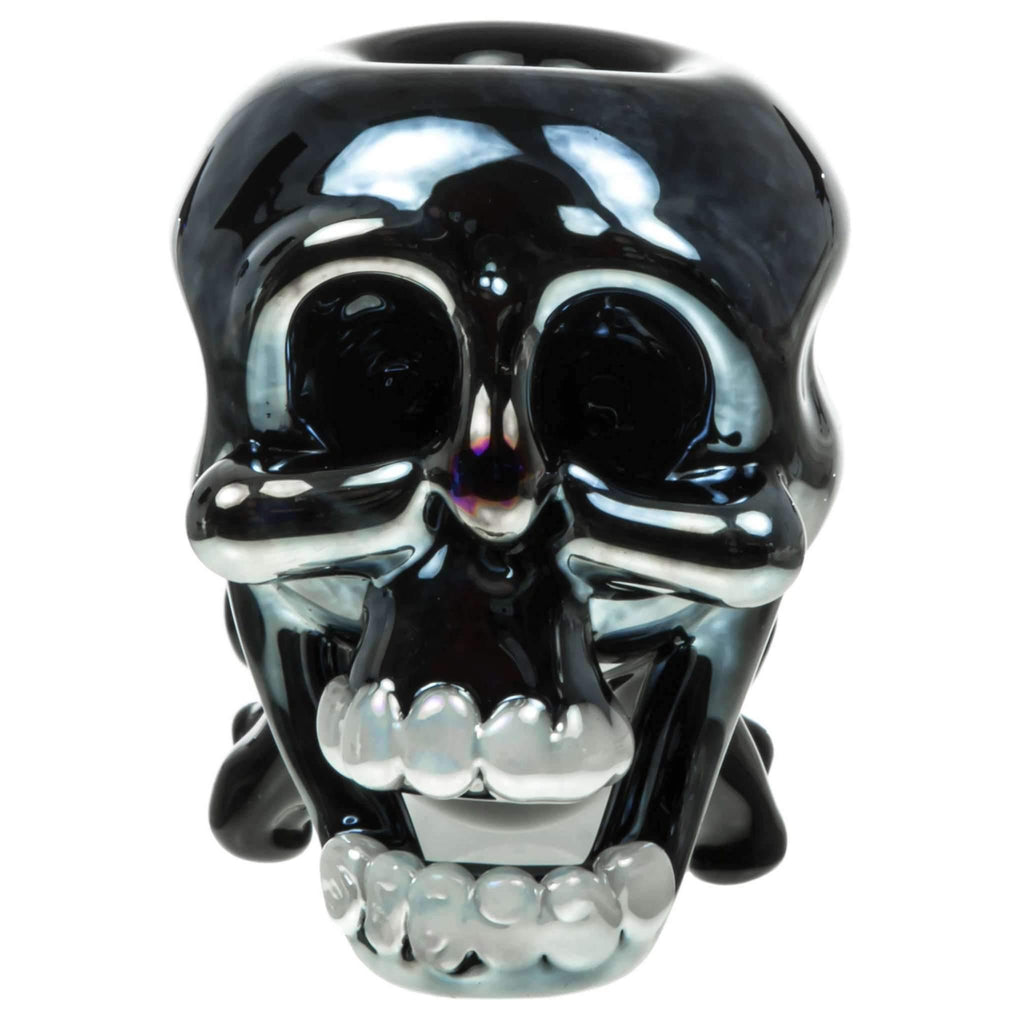 Skull Themed Thick Glass Hand Pipe | The710Source.com