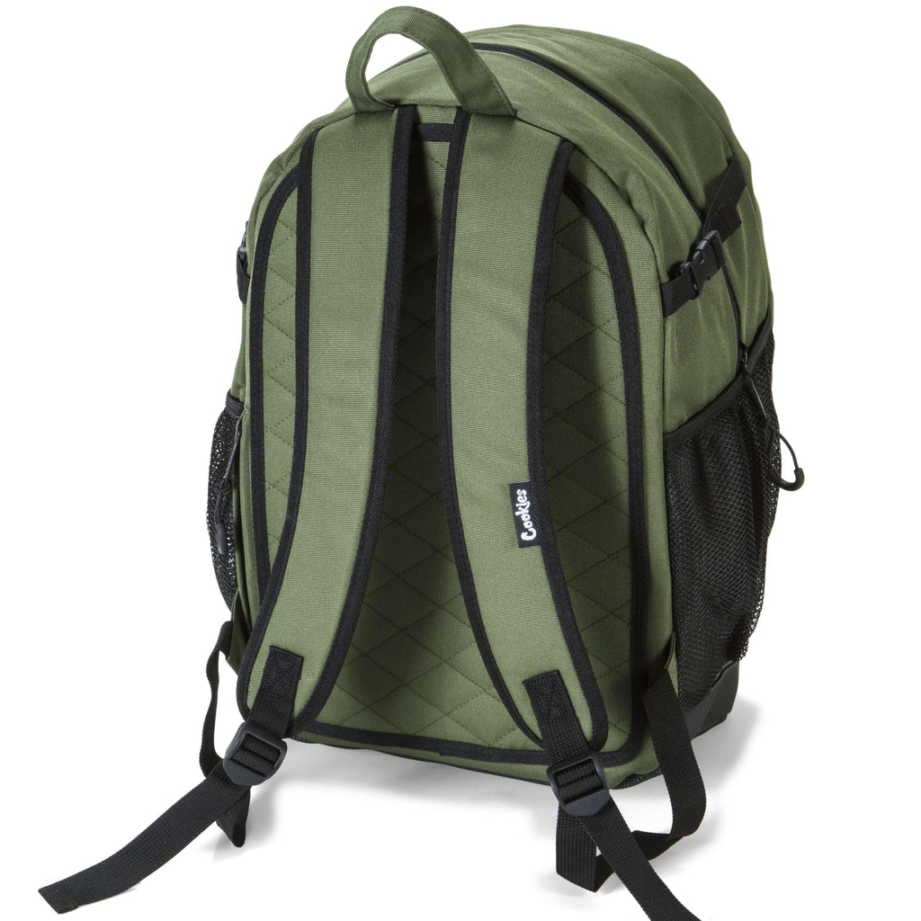 Cookies SF Bungee Smell Proof Backpack - Olive | The710Source.com