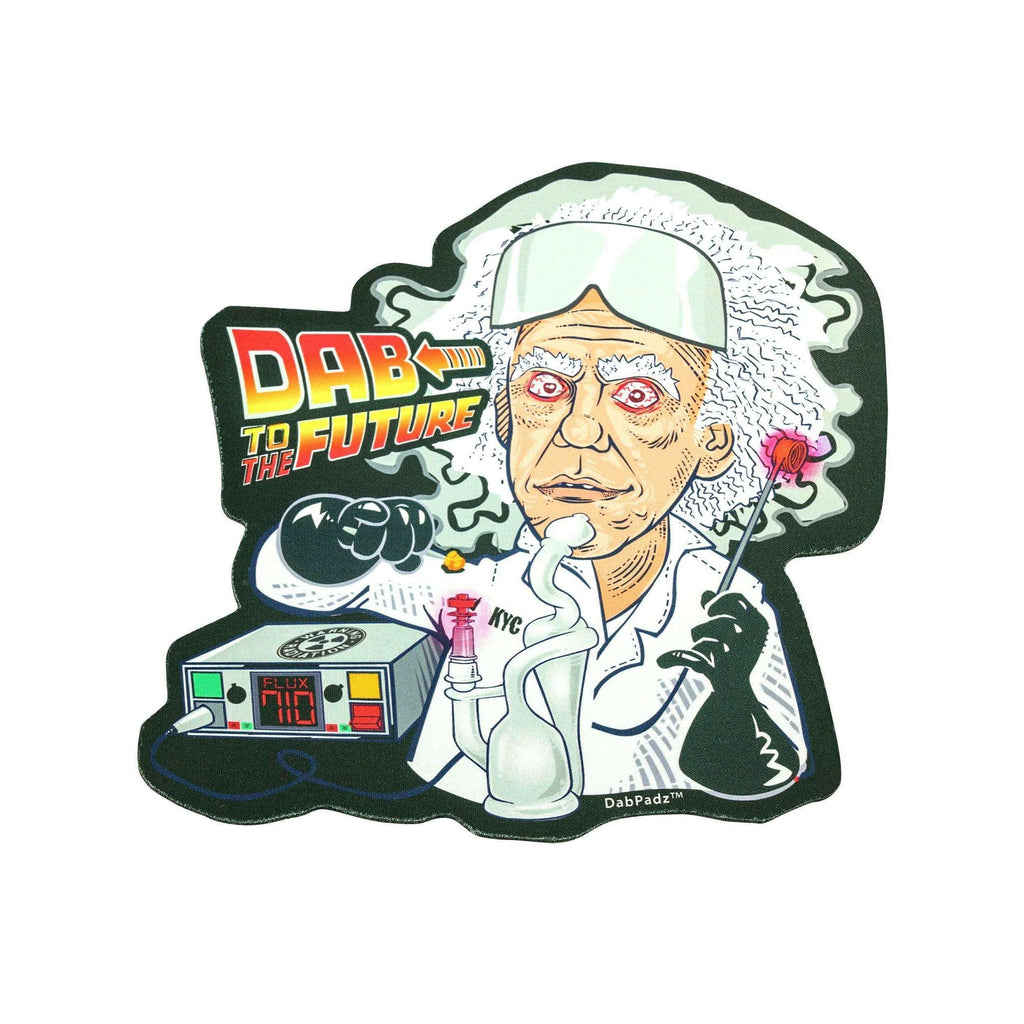 DabPadz Die Cut Dab Mat - Dab To The Future | The710Source.com