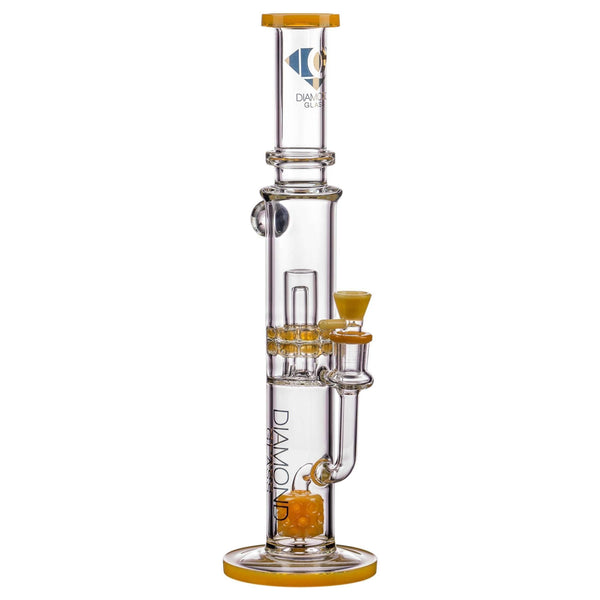 Diamond Glass Bubble Barrel to UFO Perc Bong - Topaz | The710Source.com