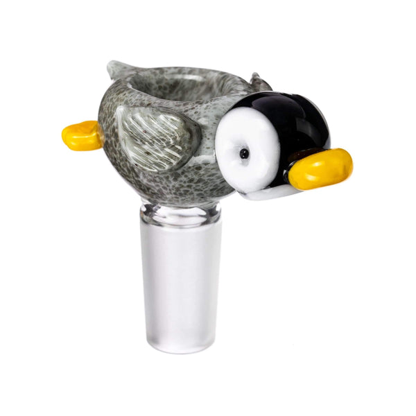 "Empire Glassworks ""Happy Feet"" Penguin Bowl 