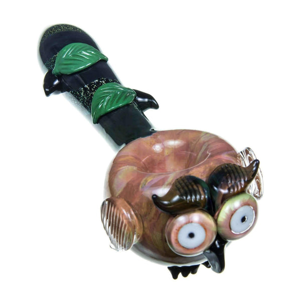 Empire Glassworks Owl Themed Mini Spoon Pipe