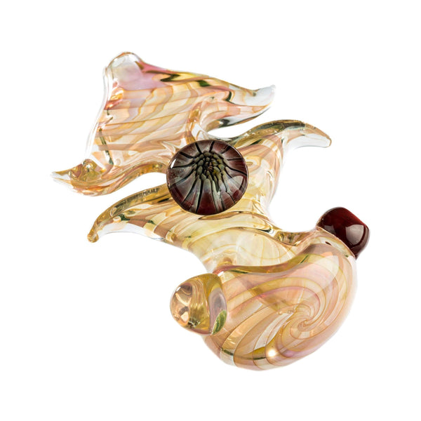 Finger Pinched Spiral Fumed Glass Hand Pipe | The710Source.com