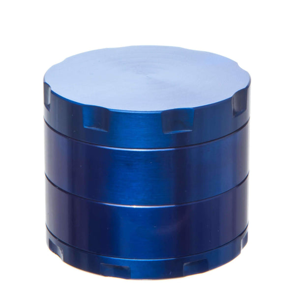 Four Piece Aluminum Herb Grinder - Blue | The710Source.com