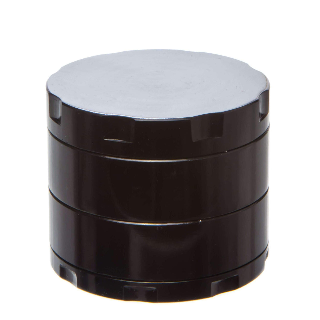 Four Piece Aluminum Herb Grinder - Black | The710Source.com