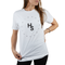 Higher Standards Circle Logo T-Shirt Womens Model Front - White | The710Source.com