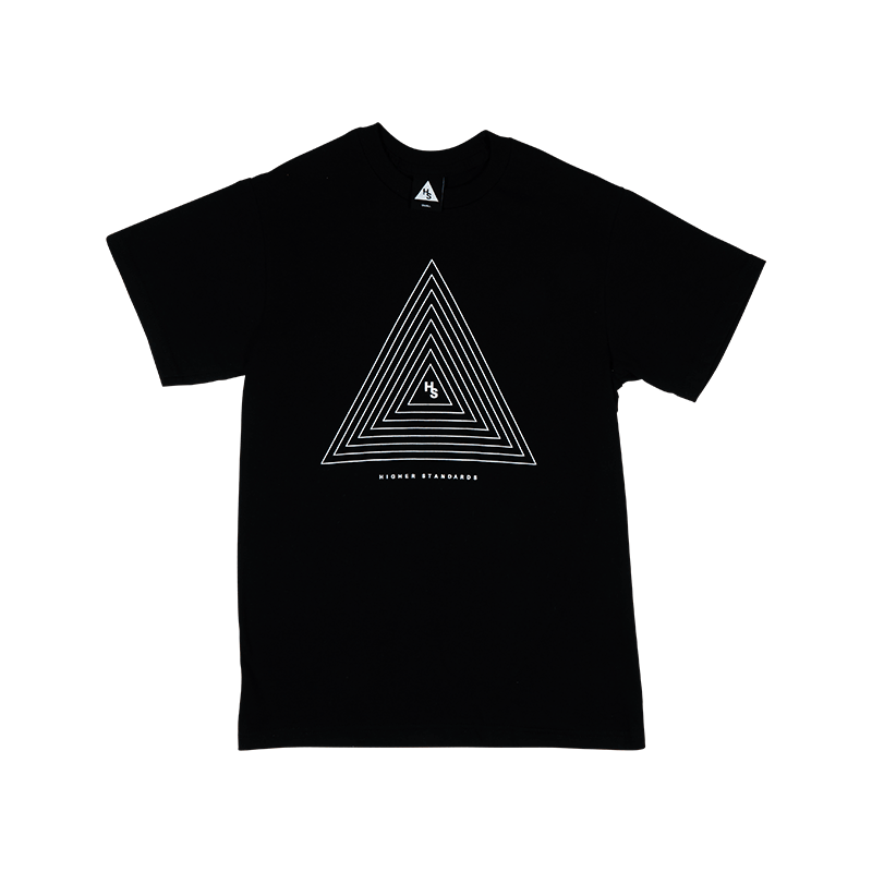 Higher Standards T-Shirt Concentric Triangle - Front | The710Source.com