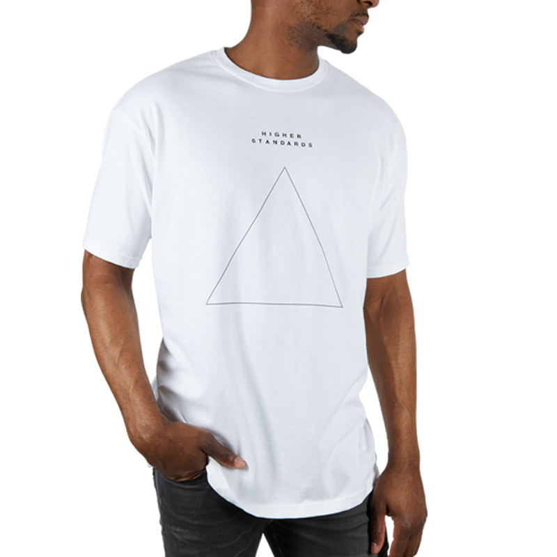 Higher Standards Embroidered Triangle Shirt | The710Source.com