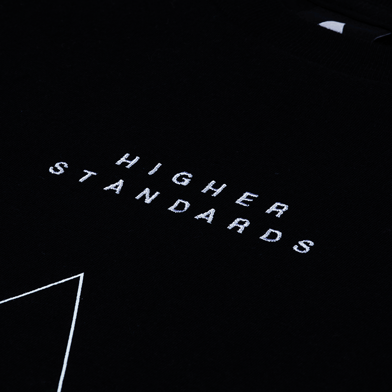 Higher Standards Embroidered Triangle Logo T-Shirt - Black | The710Source.com