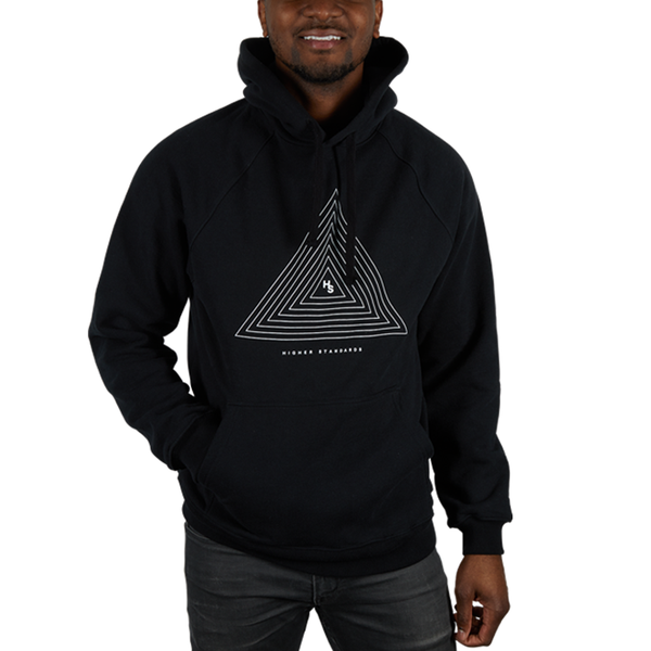 Higher Standards Triangle Hoodie Mens Model Front - Black | The710Source.com