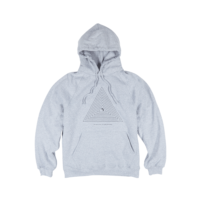 Higher Standards Concentric Triangle Hoodie - Grey | The710Source.com