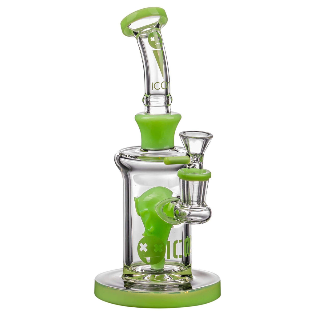 Icon Alien Head Perc Bong - Slyme Green | The710Source.com