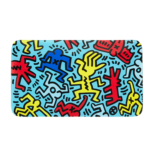 K.Haring Glass Collection Rolling Tray - Blue | The710Source.com
