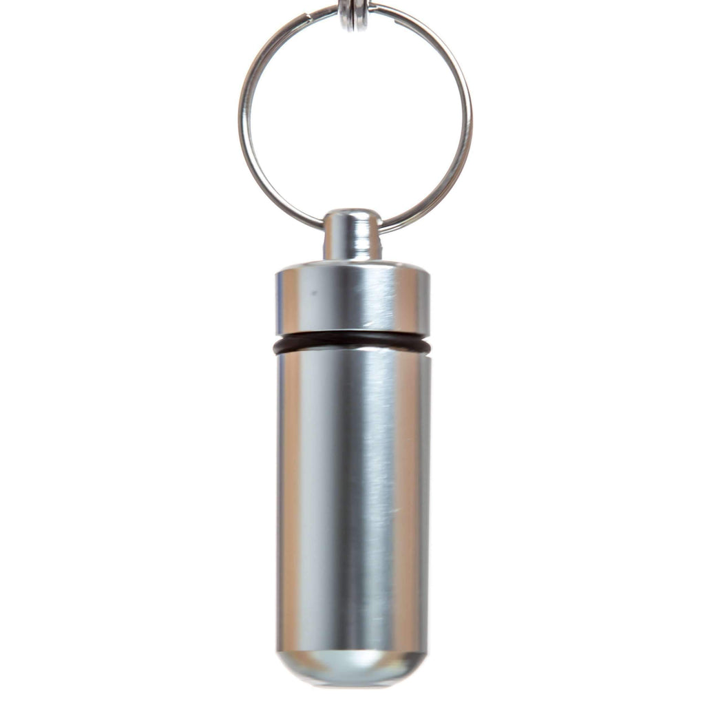 Key Chain Dry Herb Stash Jar - Silver | The710Source.com