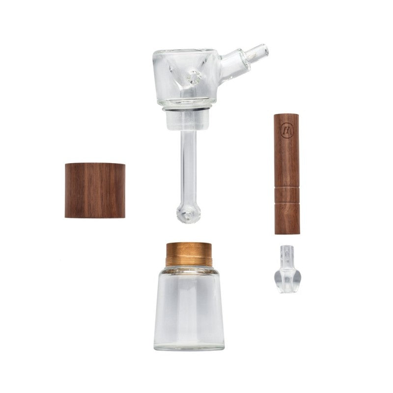Marley Natural Glass & Walnut Bubbler Pipe - Parts | The710Source.com