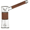 Marley Natural Glass & Walnut Bubbler Hand Pipe | The710Source.com