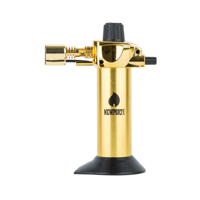 Newport Mini Butane Dab Torch - Gold | The710Source.com