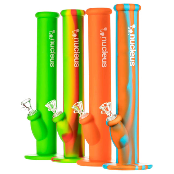 "Nucleus 14"" Silicone Straight Tube Bong 