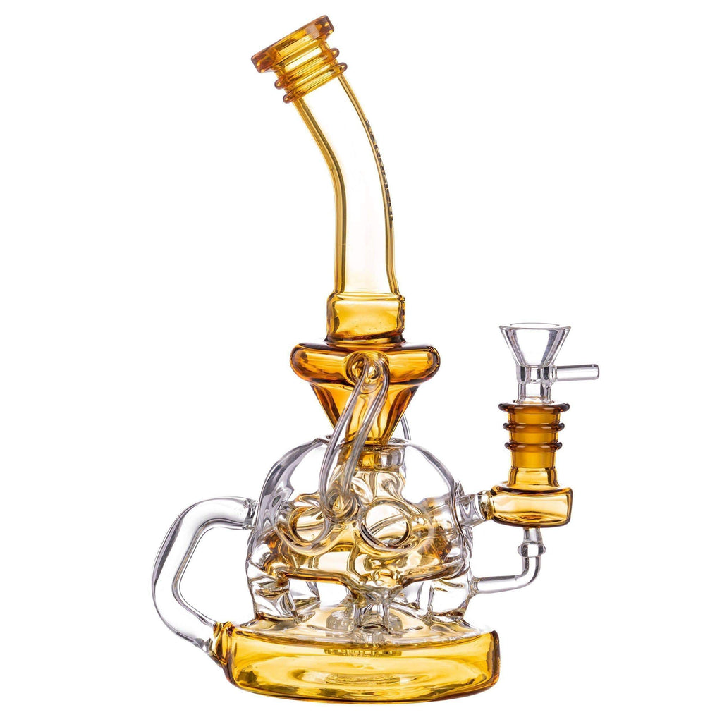 Nucleus Half Fab Egg Glass Recycler Bong | The710Source.com