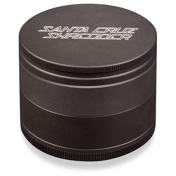 Santa Cruz Shredder 4 Piece Herb Grinder - Matte Black | The710Source.com