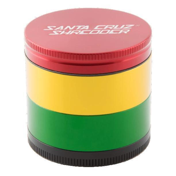 Santa Cruz Shredder Medium Herb Grinder - Rasta | The710Source.com
