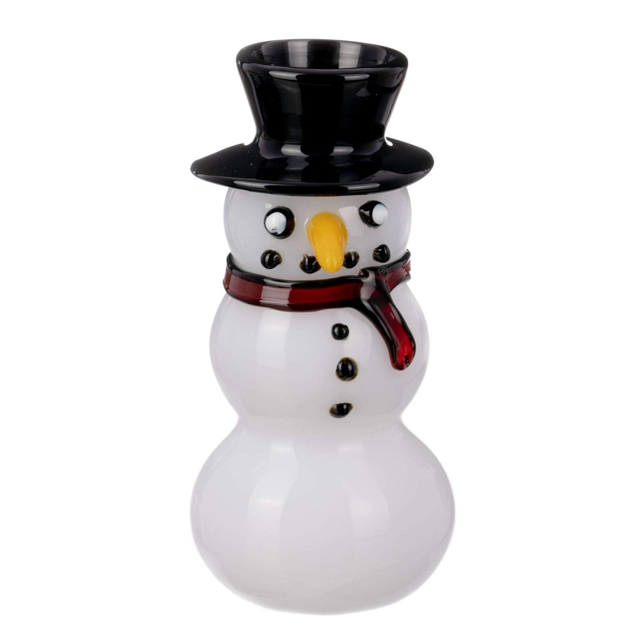 Snowman Themed Glass Hand Pipe | The710Source.com