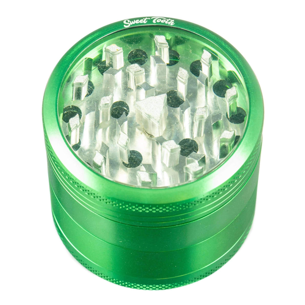 Sweet Tooth 4-Piece Medium Aluminum Grinder - Green | The710Source.com