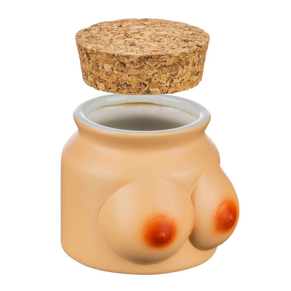 Roast & Toast Boob Themed Stash Jar | The710Source.com