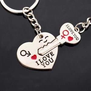 I love you heart-shaped keychain