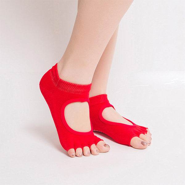 Dance Half Toe Ankle Grip Woman Socks