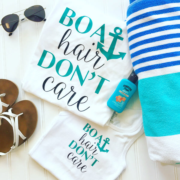 Boat Hair Don't Care Shirt,Summer Shirt,River Shirt,Boat Shirt,Custom Shirt,Lake Shirt