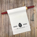 Easter Egg monogram kitchen towel,personalized dish towel,monogram tea towel, wedding gift, hostess gift, monogram kitchen towel, easter gift, mothers day gift