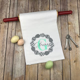Easter monogram kitchen towel, personalized dish towel, monogram tea towel, wedding gift, hostess gift, monogram kitchen towel, easter gift, mothers day gift