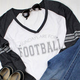 Sundays are for Football Long Sleeve Raglan, Football Shirt, Superbowl Shirt, Fall Shirt, Women's Football Shirt, Tailgating Shirt