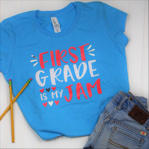 1st Grade is My Jam Shirt, Back to School Shirt, First Grade Shirt, Teacher Shirt, School Shirt, Vinyl Shirt, First Day Of School Shirt