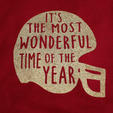 Most Wonderful Time of the year Hoodie, Football Hoodie, Football Sweatshirt, Christmas Gift, Womens Football Shirt, Womens Funny Hoodie