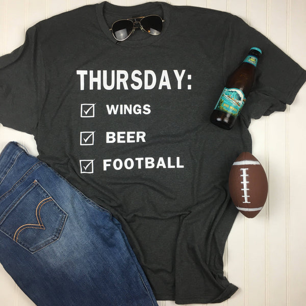 Thursday Football Shirt, Football Shirt, Superbowl Shirt, Fall Shirt, football party shirt, foodball party food, Vinyl Shirt, monday night