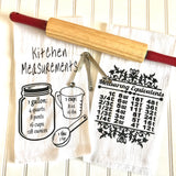 measurement equivalents kitchen towel, dish towel, kitchen towel, personalized kitchen towel,wedding gift,housewarming gift,Christmas gift