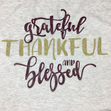 Fall Shirt, grateful thankful blessed shirt, autumn shirt, thanksgiving shirt, womens fall shirt, thankful shirt, cute fall shirt