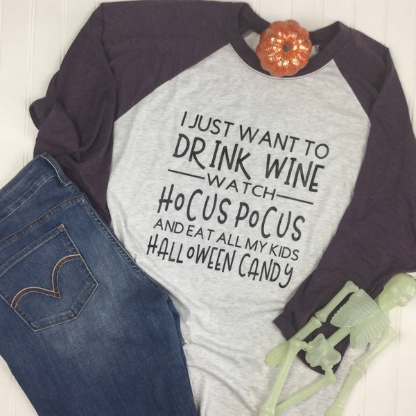 Halloween Shirt for Mom, hocus pocus shirt, Halloween shirt, Wine shirt, Candy shirt, halloween Tee, womens halloween shirt, mom fall shirts