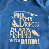 Fishing With Daddy Infant Bodysuit, Baby Shower Gift, Funny Infant Bodysuit, New Baby Gift, one piece bodysuit, Fishing Baby Bodysuit