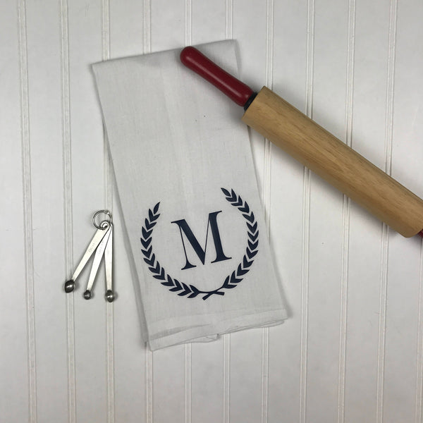 Christmas Party Hostess Gift, Personalized monogram kitchen tea towel, hostess gifts, wedding gift, housewarming gift, gifts under 10