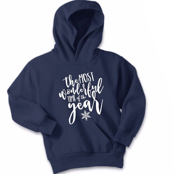 Christmas Hoodie, The Most Wonderful Time of the year winter Hoodie, Christmas Sweatshirt, Christmas hoodie for women, christmas shirt