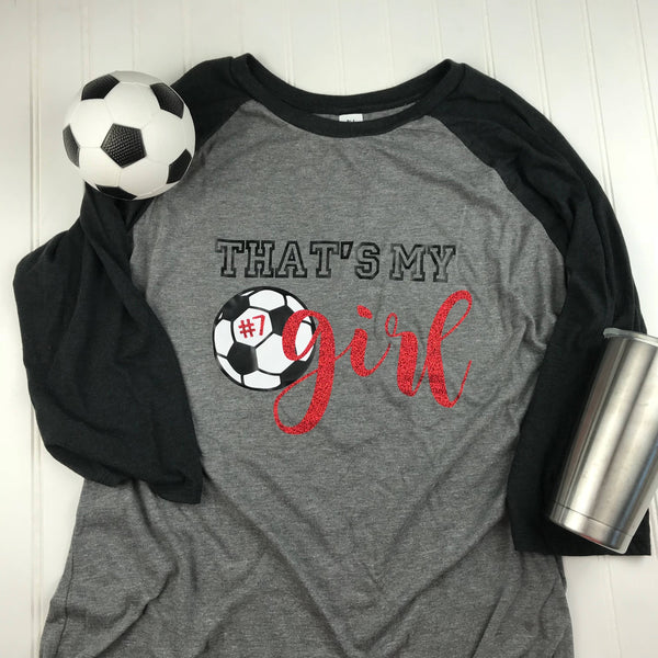 That's my girl Soccer Mom Shirt with Back, soccer mom shirt, Mom Shirt, Mom soccer Shirt, Soccer Mom T-shirt, Soccer Mom Gift, Team Mom gift