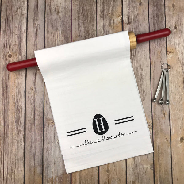 Easter monogram kitchen towel, easter tea towel, personalized Kitchen towel, monogram dish towel, personalized dish towel, kitchen towel